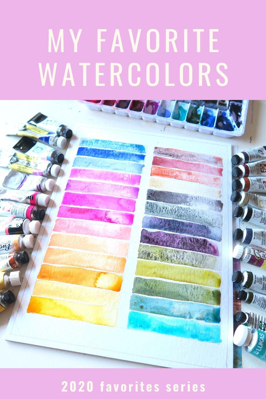 watercolor palette daniel smith rembrandt holbein shinhan van gogh