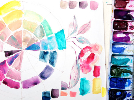 Creating A Color Wheel with Any Watercolors