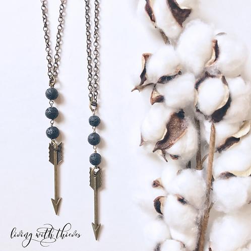 Arrow diffuser necklace