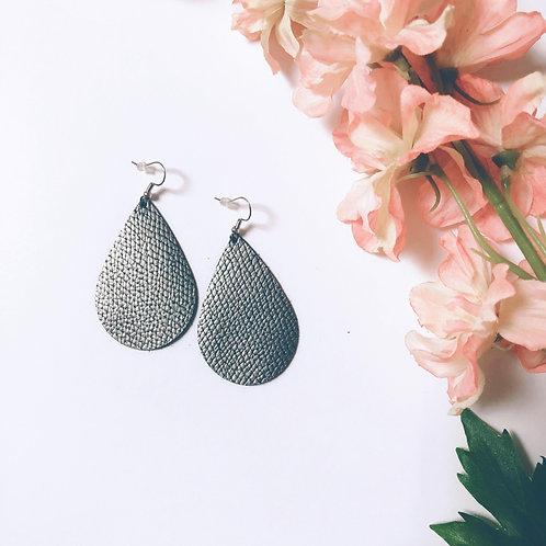 Teardrop Charcoal Diffuser Earrings