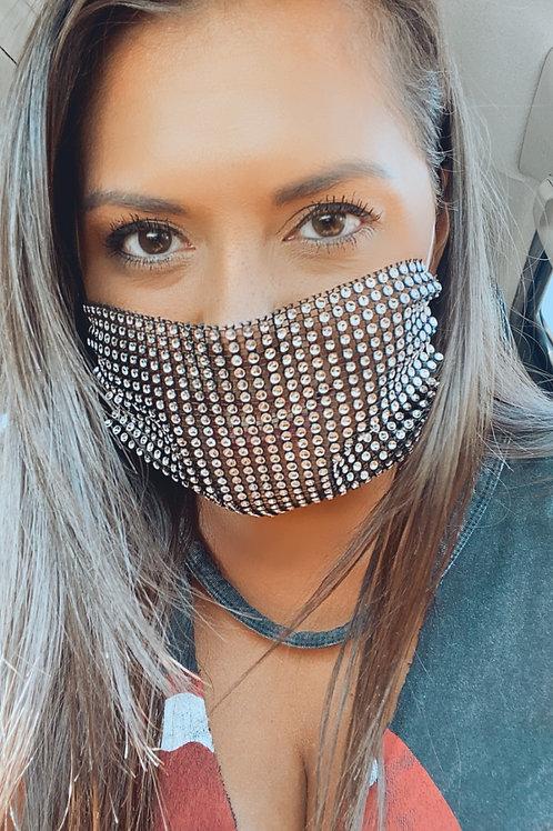 Mesh Blingy Black mask