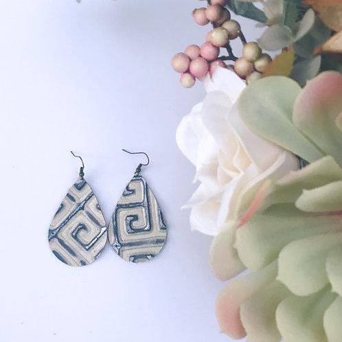 NEW** Aztec Teardrop Diffuser Earrings