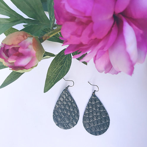 Charcoal Teardrop Diffuser Earrings