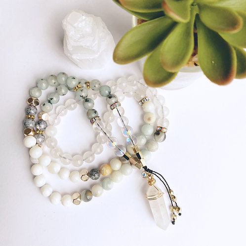 Gemstone Mala Necklace listing