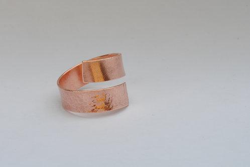Bague double anneau cuivre