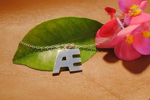 Pendentif  fin 2 lettres personnalisable