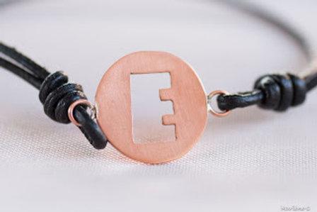 Bracelet rond lettre personnalisable