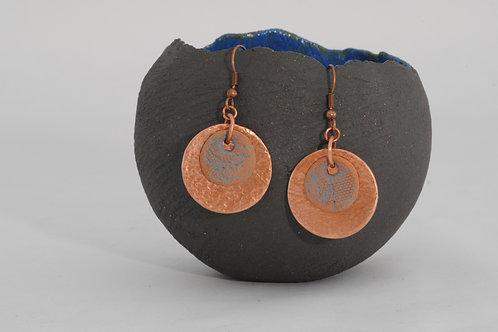 Boucles duos cuivre céramique