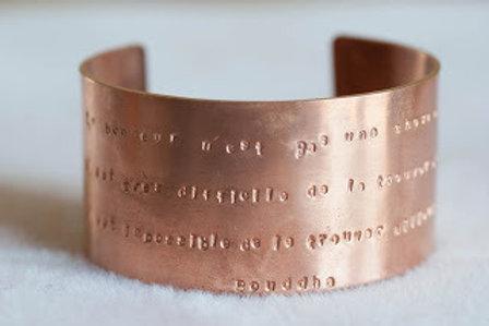 Bracelet citation personnalisable