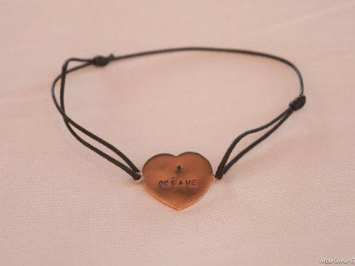 Bracelet coeur prénom personnalisable