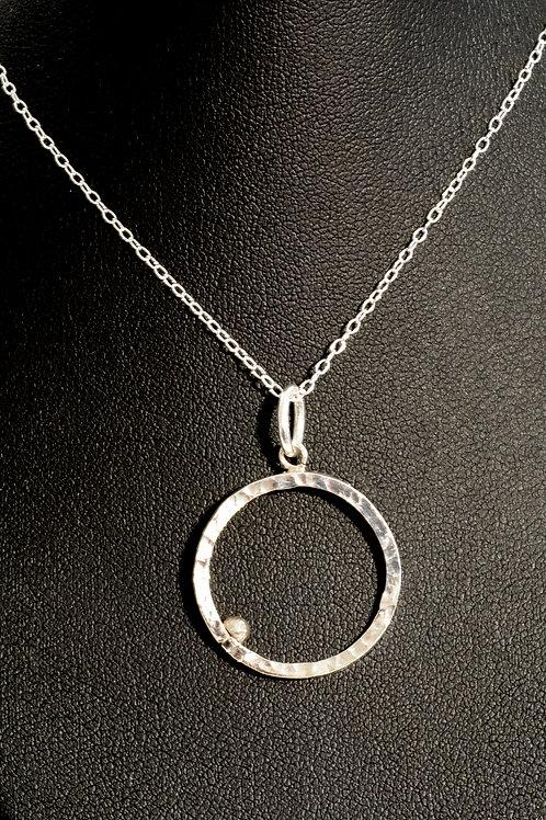 Pendentif Cercle Perlé