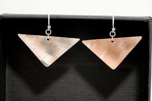 Boucles triangles mokumé gané