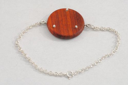 Bracelet argent bois exotique