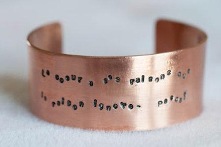 Bracelet citation ou prénom personnalisable