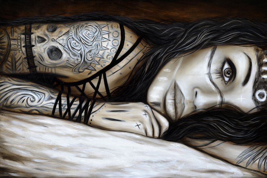 Edge - A Surreal Gothic Fantasy Portrait Painting