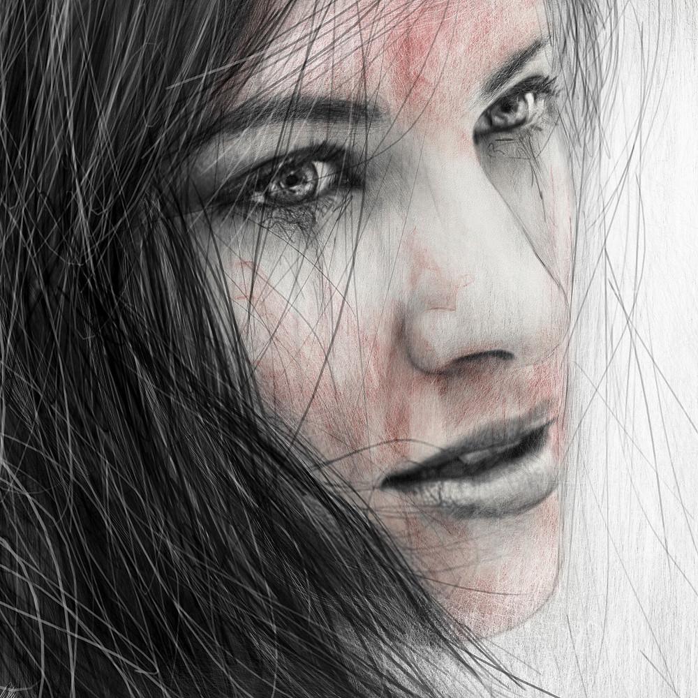 Digital Painting Detail by Justin Gedak