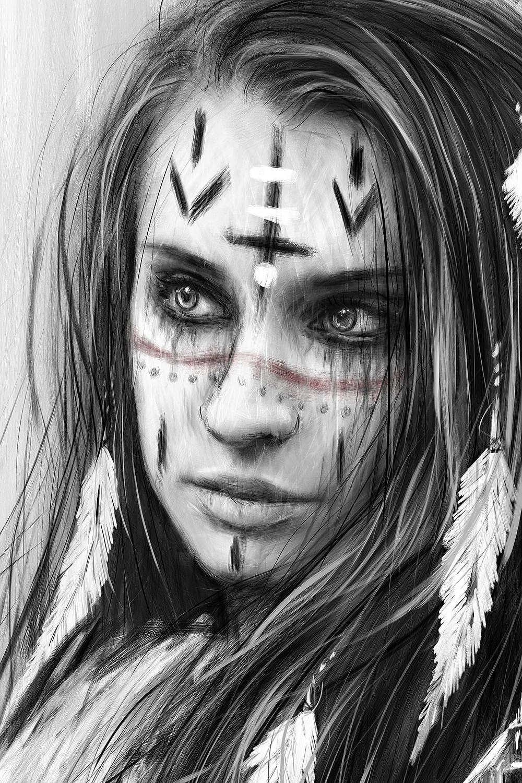 Gothic Portrait Detail