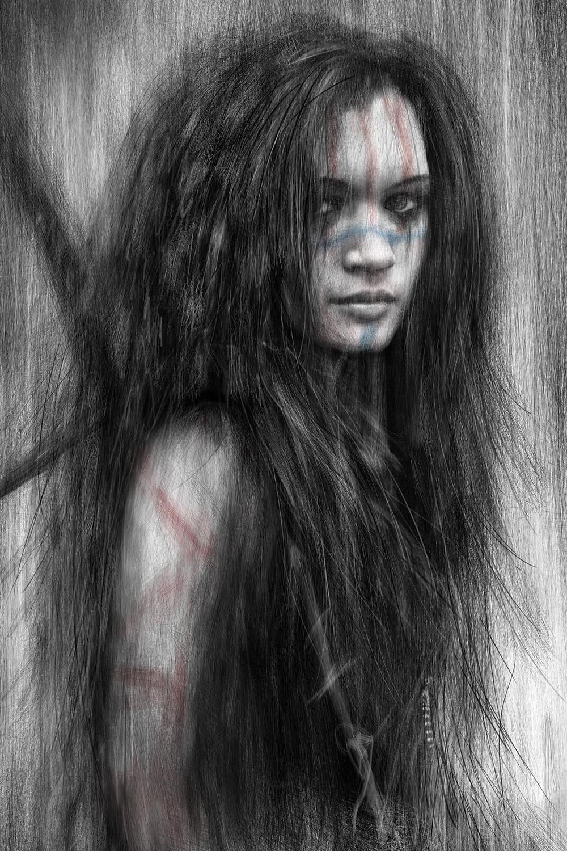 Fantasy portrait by Justin Gedak