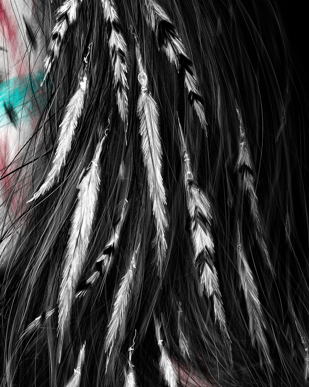 Digital Artwork of Feathers
