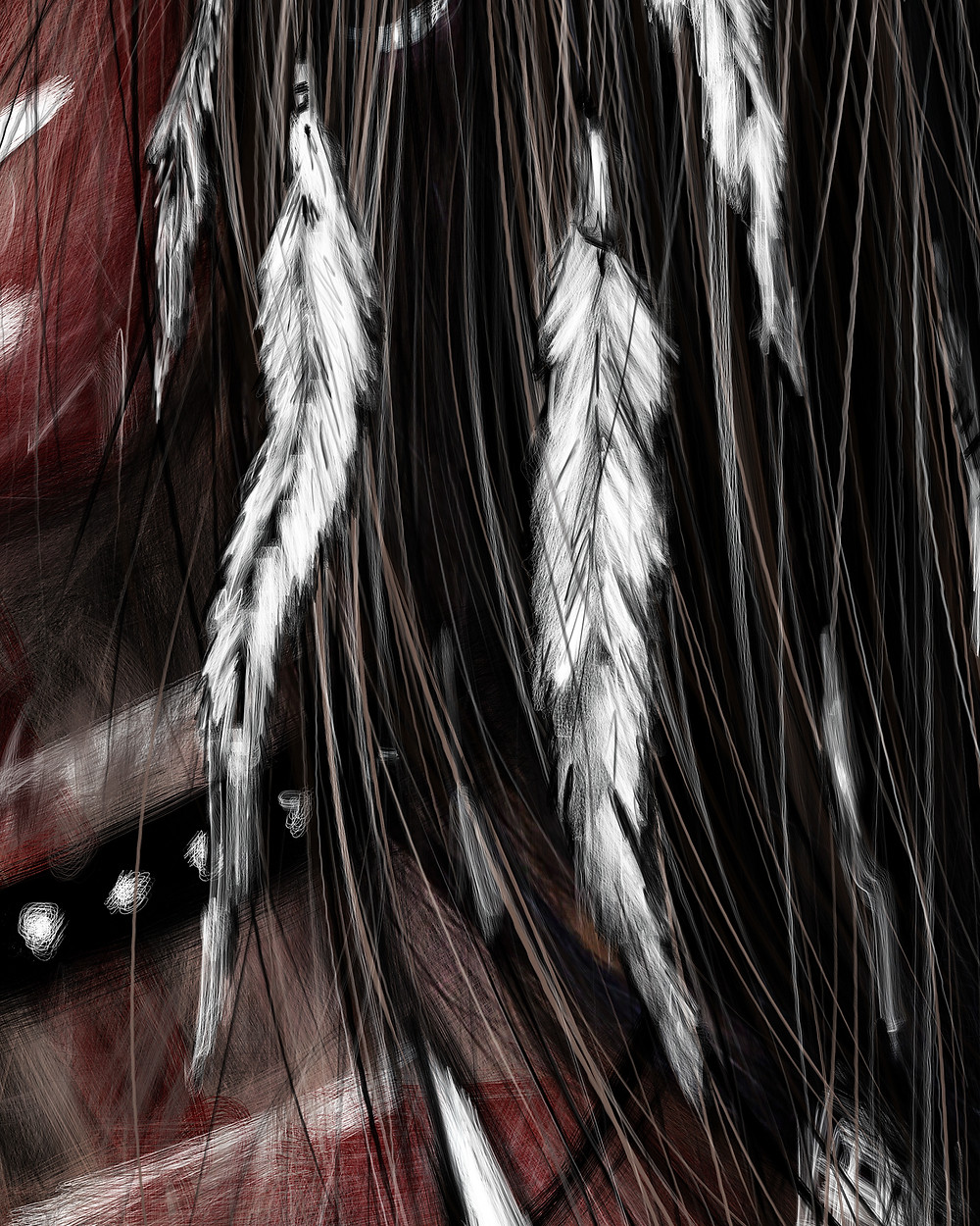 Teal Hair Detail