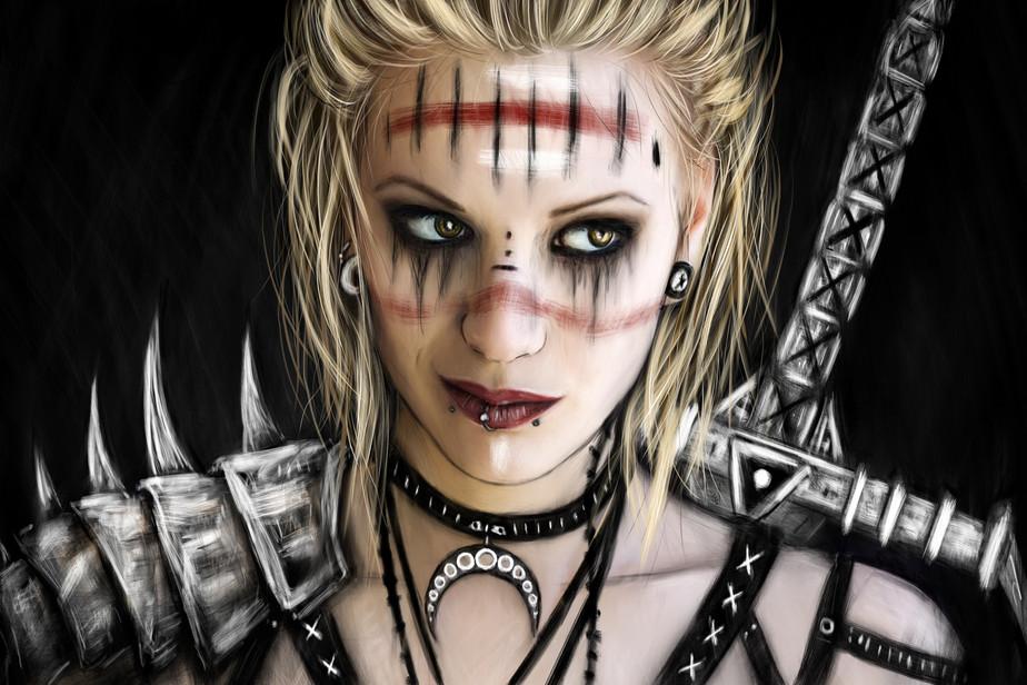 Unshaken: A Gothic Fantasy Portrait