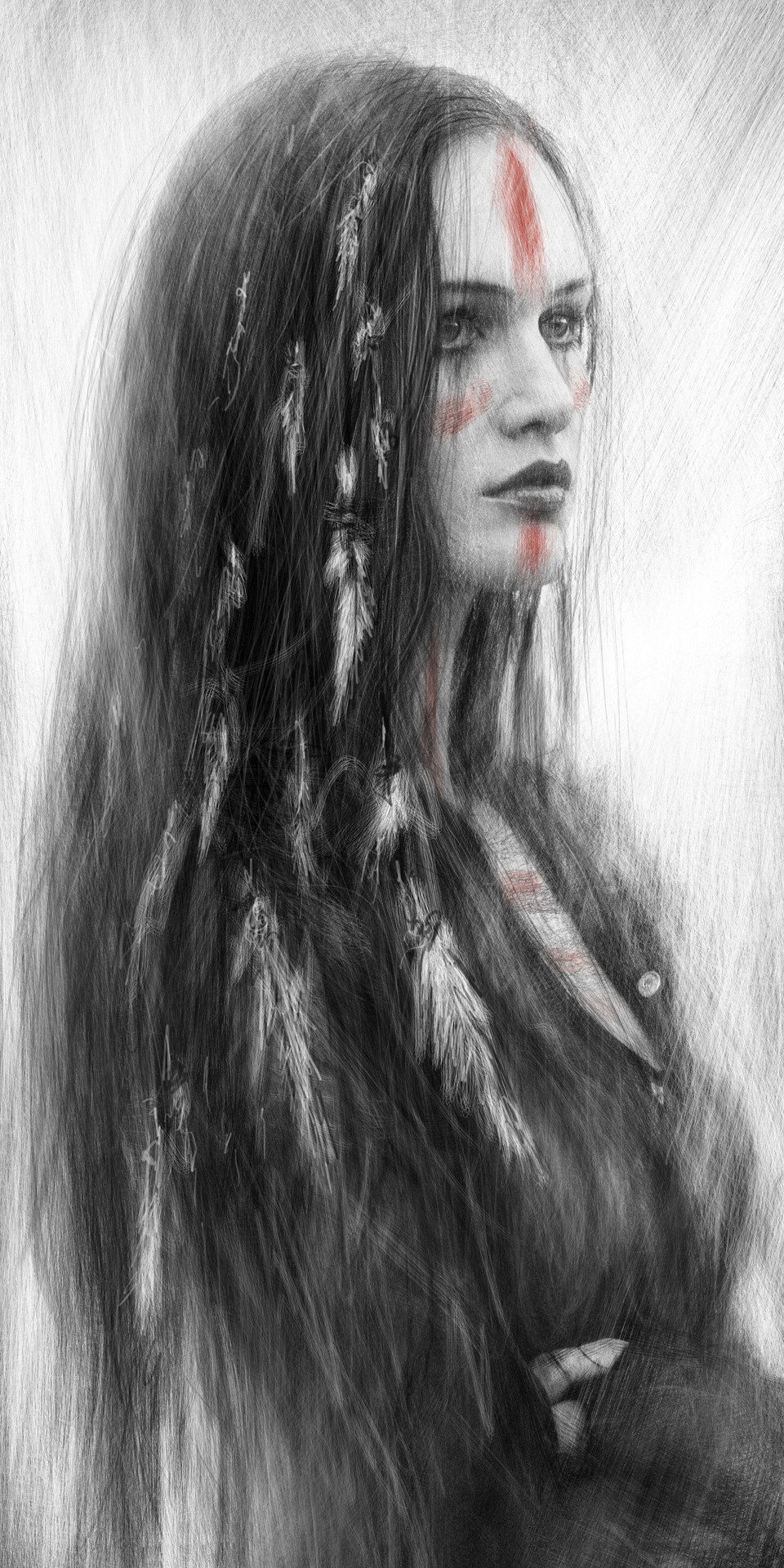 Native american digital painting