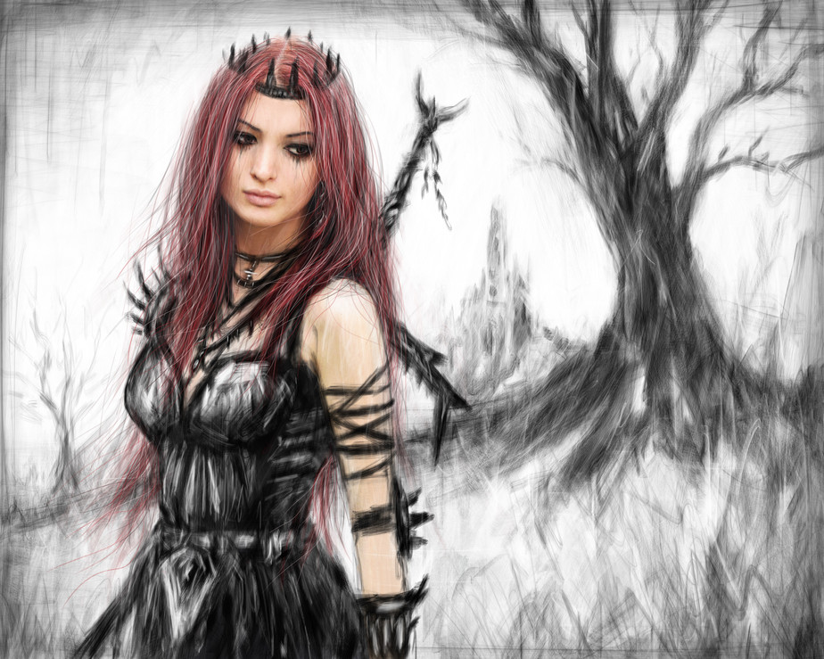 Distance Fading: A Gothic Red Haired Warrior Princess