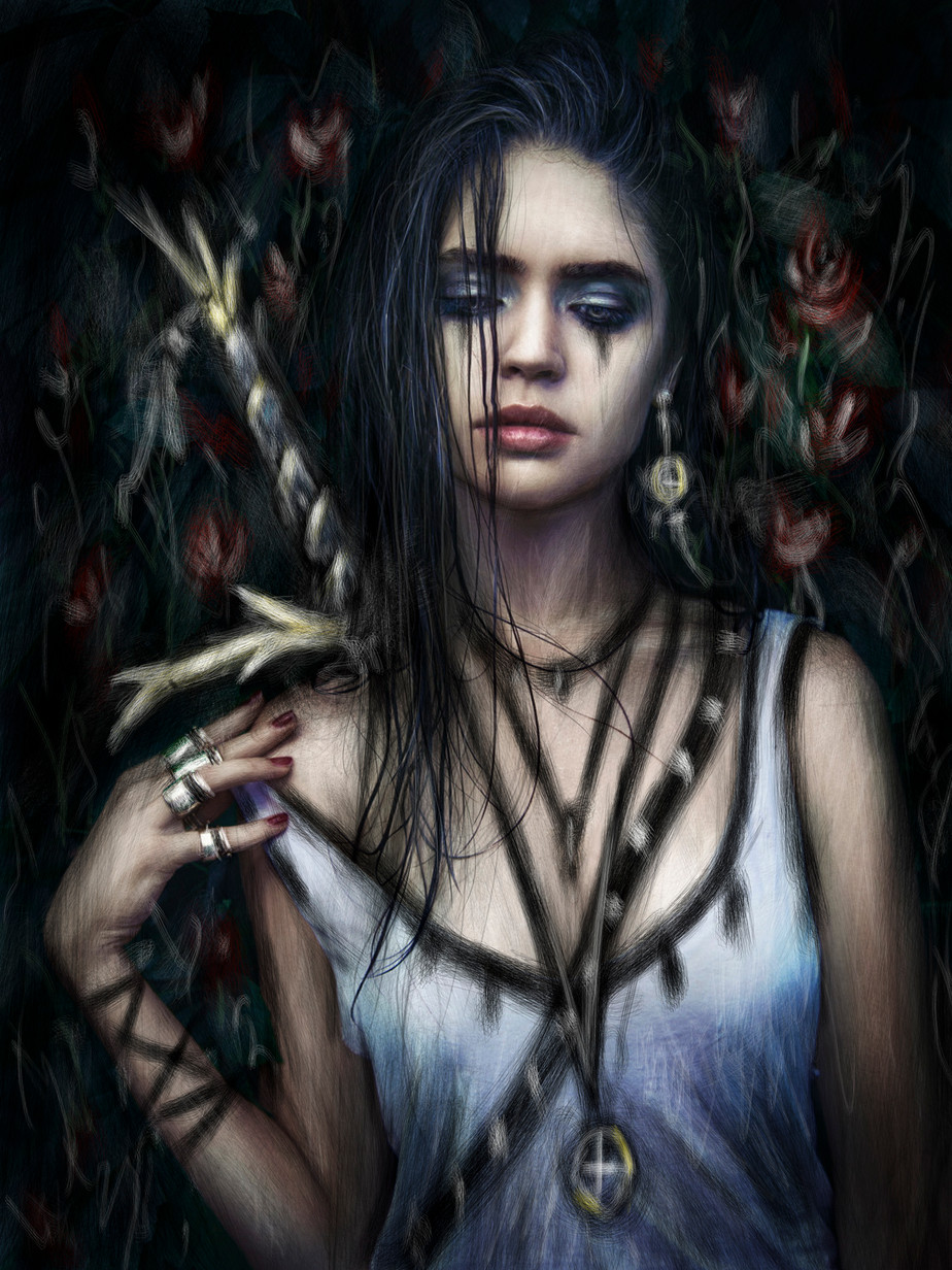 In the Rose Garden: A Gothic Fantasy Portrait