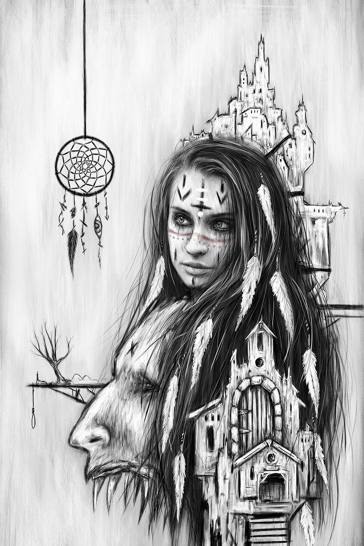 Surreal Gothic Artwork by Justin Gedak