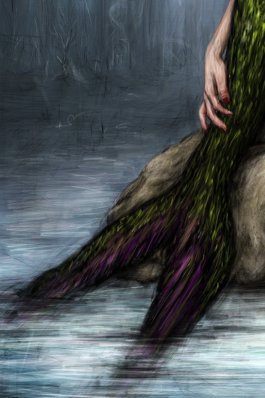 Mermaid fin detail