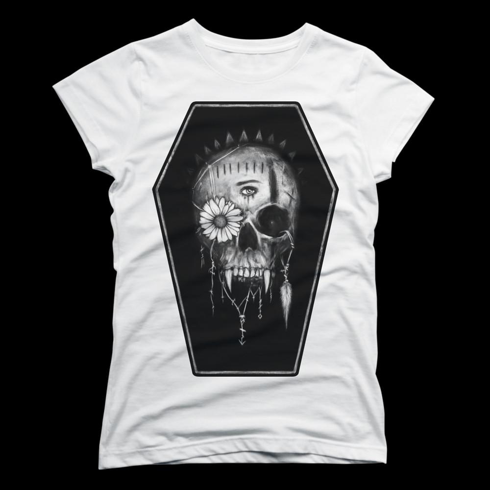 Women's vampire skull t-shirt from Design by Humans