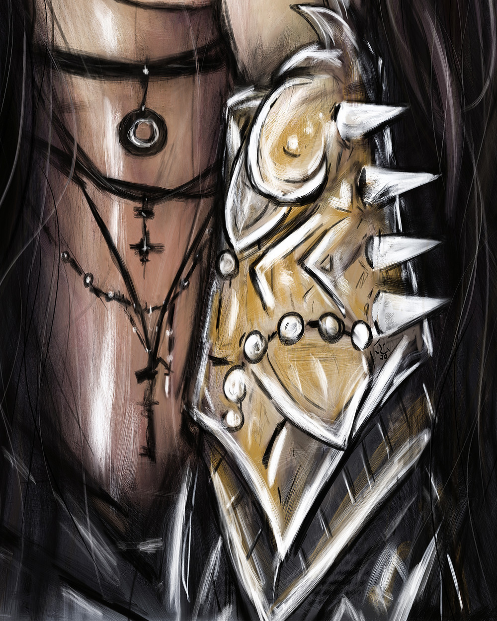 Digital Painting Armor Detail