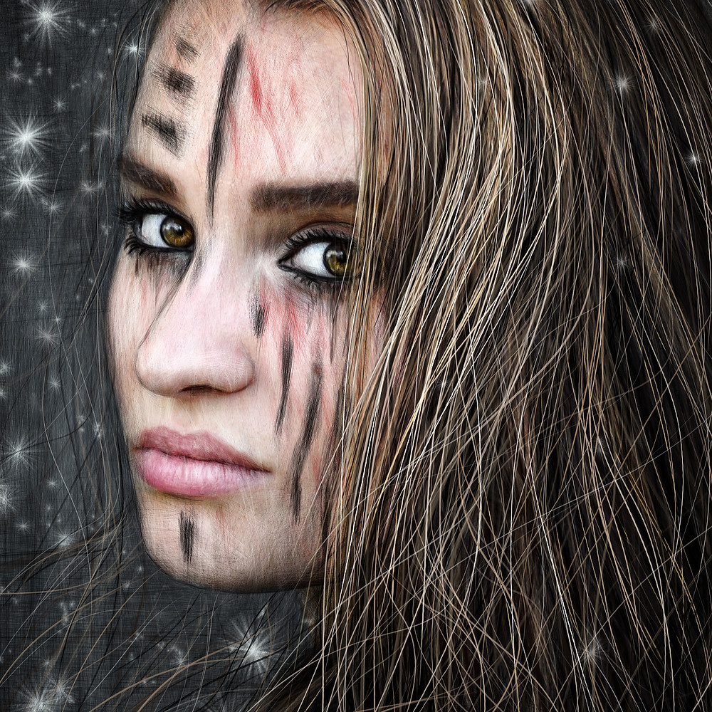 Gorgeous barbarian girl