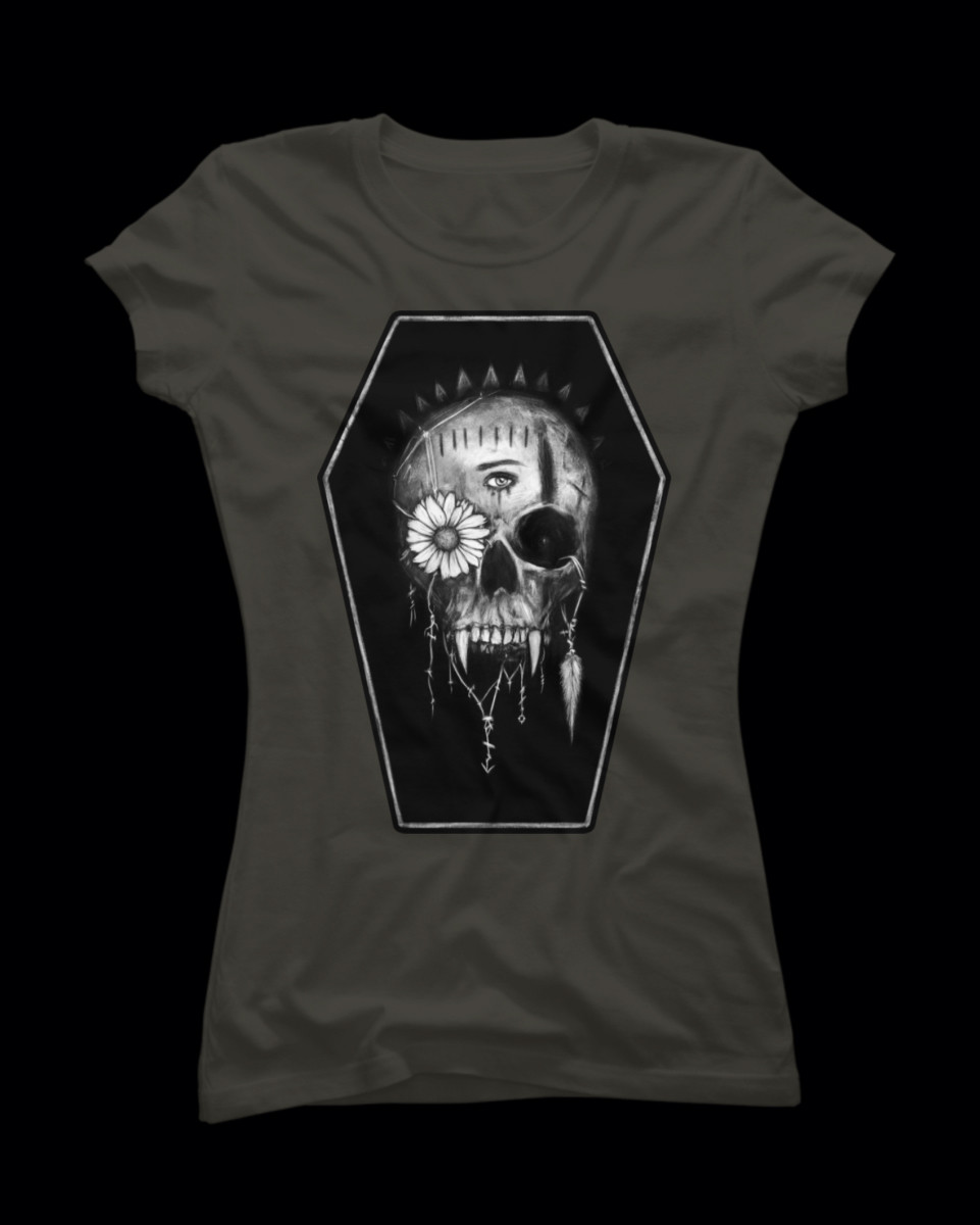 Goth skull t-shirt from Design by Humans