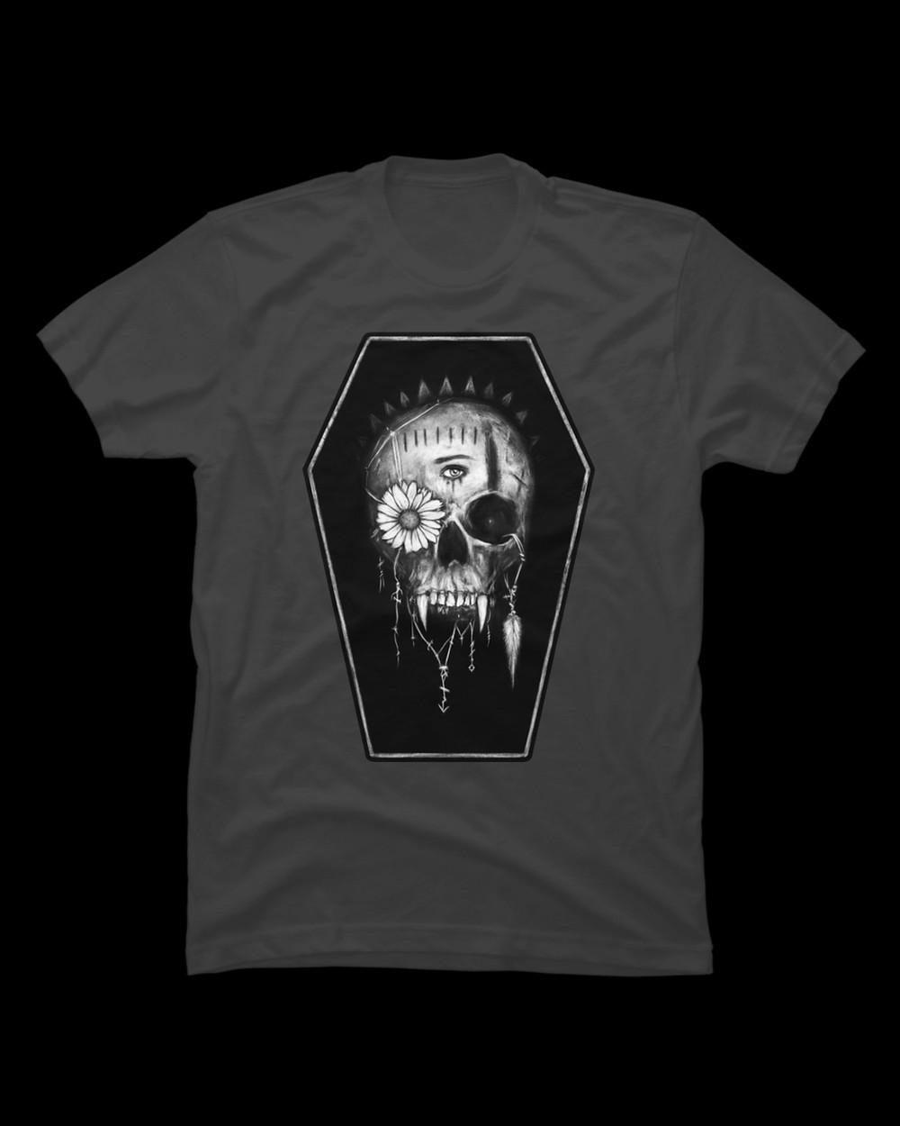 Men's vampire skull t-shirt from Design by Humans