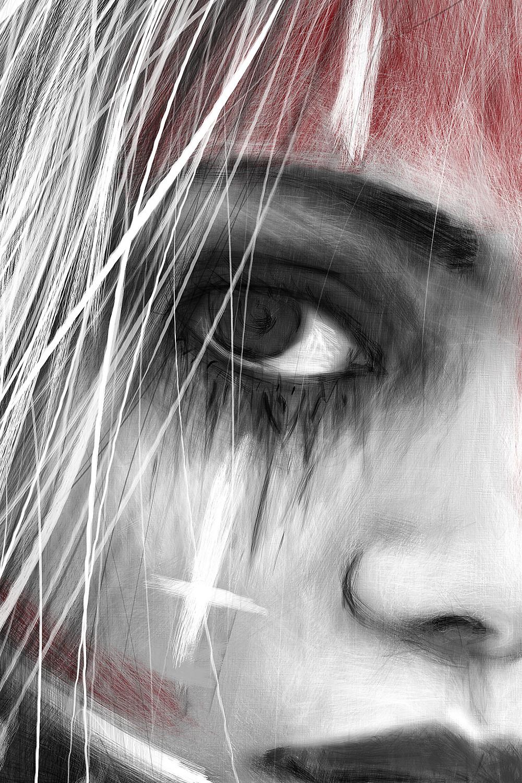 digital painting of an eye detail