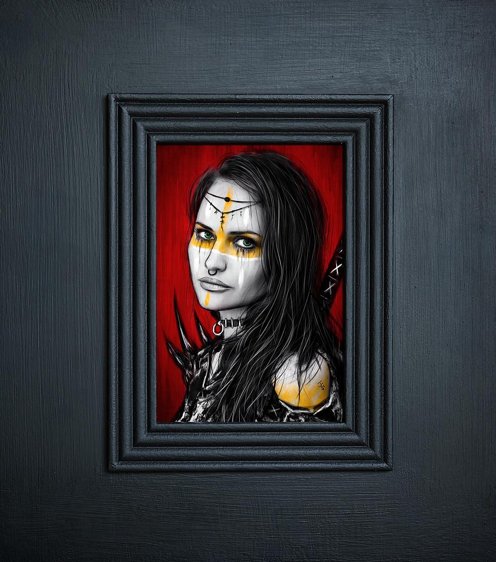 Corel Painter Portrait Painting Face Detail