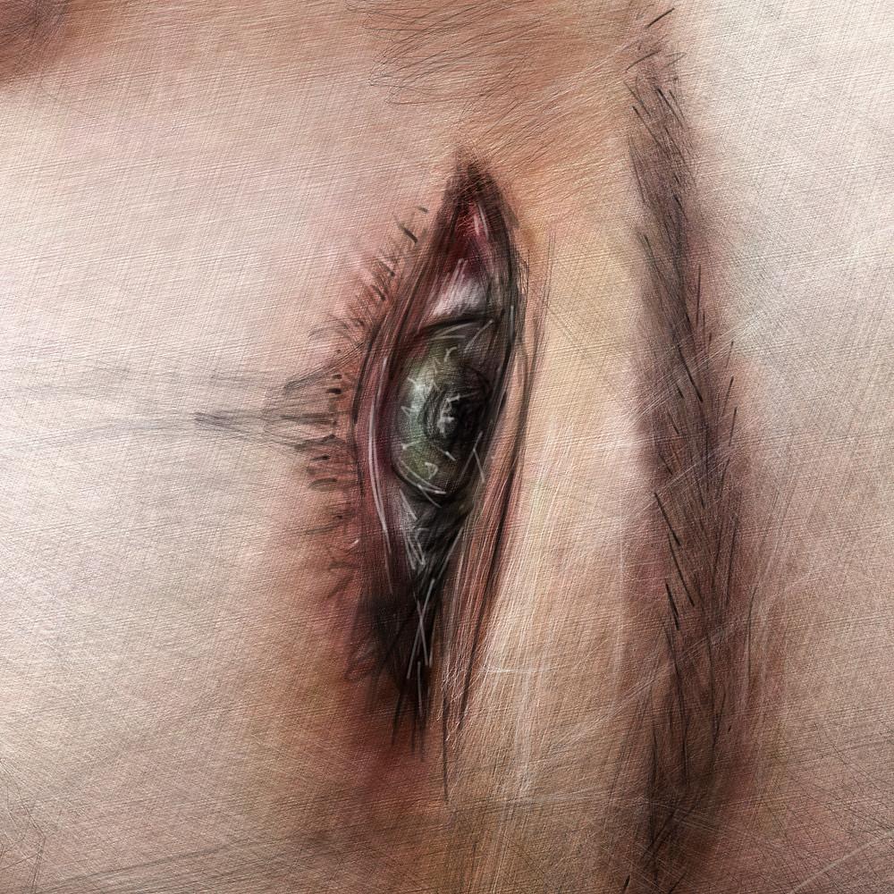Digital painting eye detail