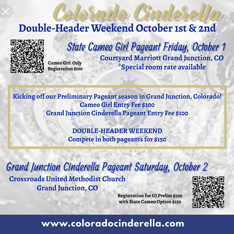 Grand Junction Cinderella Pageant (Cameo Option available)