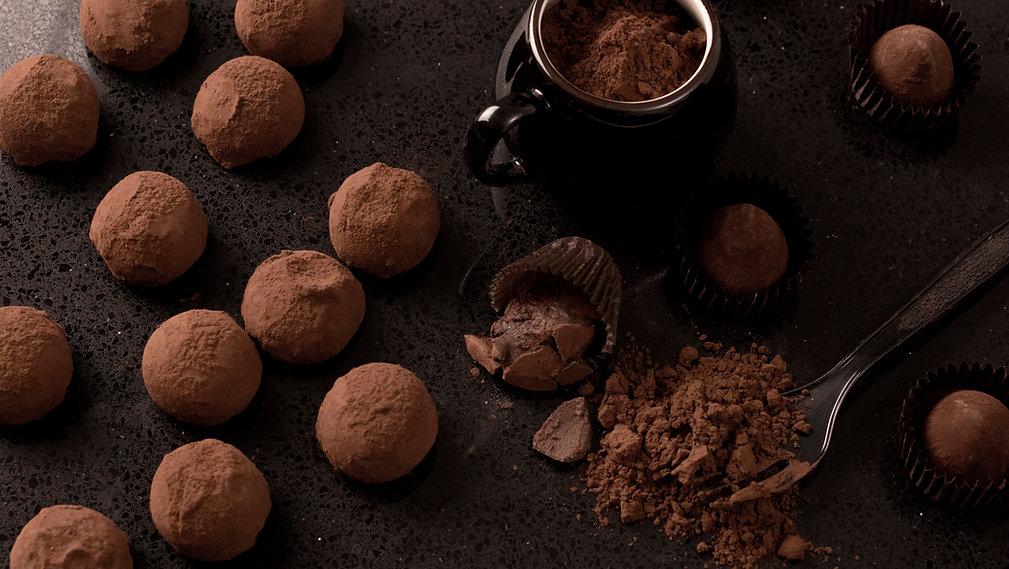 Trufas de chocolate caseiros