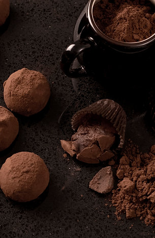 Truffe chocolat noir et vanille