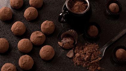 Selbst gemachte Schokoladen-Trüffel