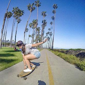 Lindsay skateboarding in Santa Barbara
