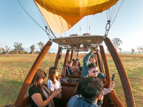Hot Air Ballooning Over Brisbane