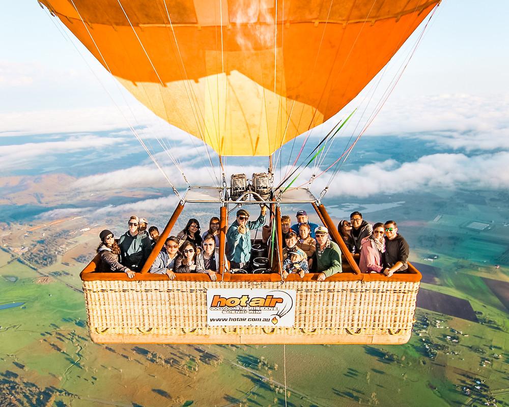 Hot Air Balloon Cabin Mid Air