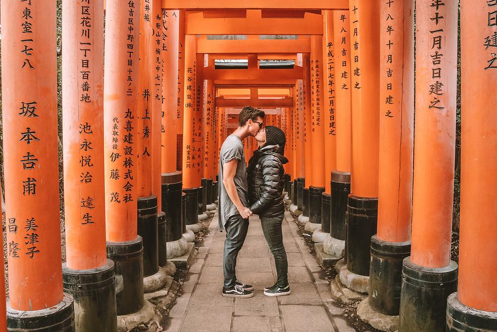 Lindsay and Alexis at Fushimi Inari Taisha
