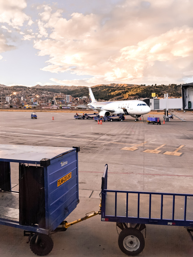 The incredible sunset over the Cusco Airport