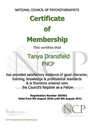 NCP Certificate - Dransfield.png