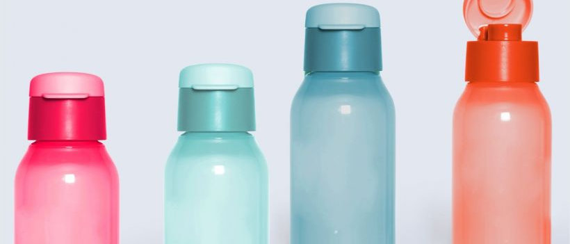 Tupperware  Aquasafe 350ml Cool n Chic Fliptop Bottles