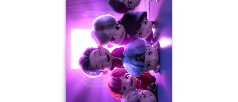 BTS Chibi Dyanimide Poster A4 and A3 size posters ARMY BTS print